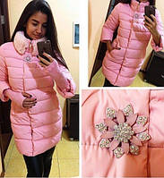 Зимняя куртка с брошкой про-во Китай