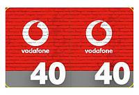 Карточка пополнения счёта Vodafone/ МТС 40 грн