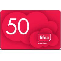 Карточка пополнения счёта Lifecell/ Лайф 50 грн