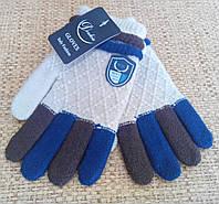 Теплые демисезонные перчатки для мальчиков 4-8 лет. Код 551.