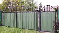 Ворота закрытые профнастилом 5440