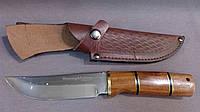 Нож охотничий Wolf из кожаным чехлом Красное дерево