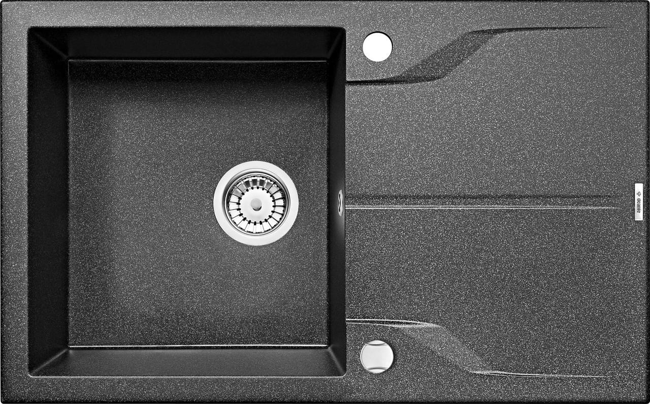 Мийка 1-камерна з полицею Deante АNDANTE, графітовий граніт, 780х490х190 мм