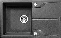 Мийка 1-камерна з полицею Deante АNDANTE, графітовий граніт, 780х490х190 мм, фото 1