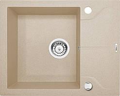 Мийка 1-камерна з полицею Deante АNDANTE, пісочний граніт, 590х490х190 мм