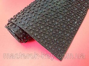 Профилактика листовая ЗИМА+КАУЧУК (износостойкая) 480*460*3мм цвет чёрный