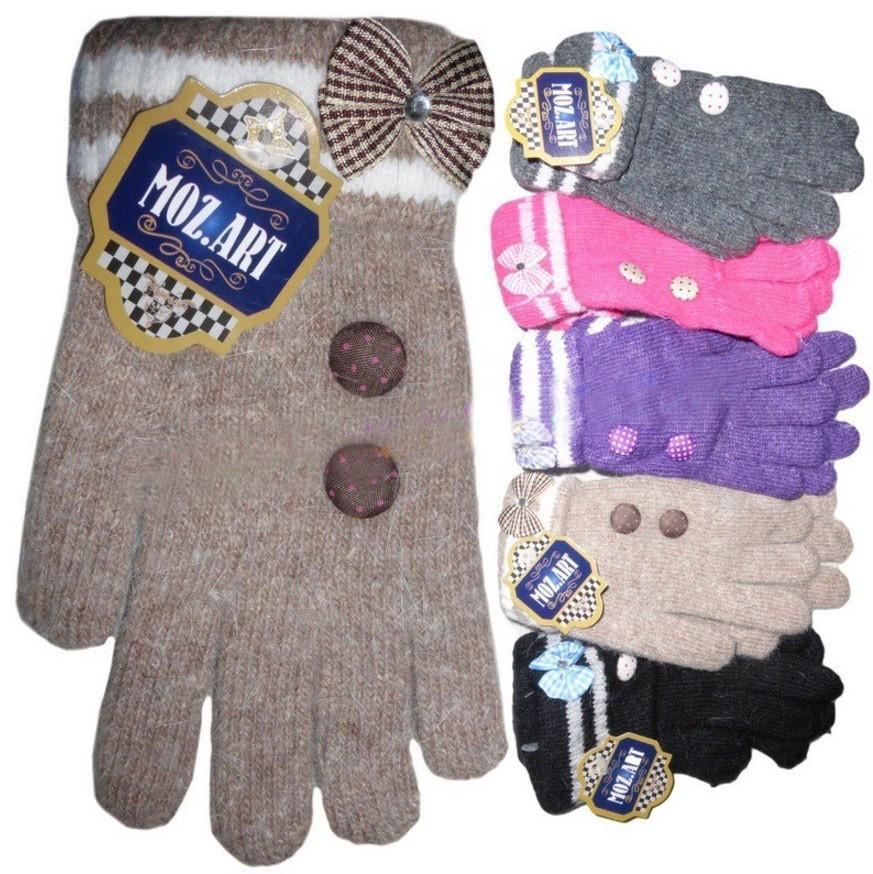 Перчатки детские для девочки Ангорка