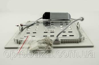 Встраиваемый led светильник 12Вт 4000К (169х169х22 мм), фото 2