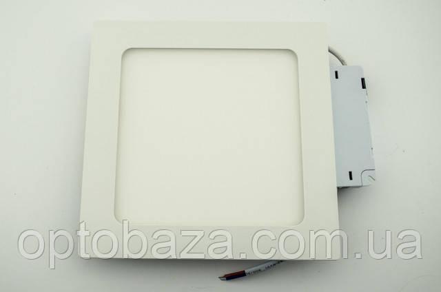 Встраиваемый led светильник 12Вт 4000К (169х169х22 мм)