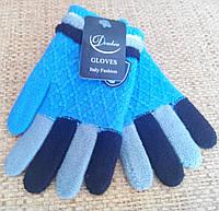 Перчатки для мальчика. Вязанные. Теплые. От 4-5 лет. Код 551