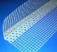 Уголок пластиковый перфорированый, 3 м. (для защиты наруж. углов гипсокарт. перегородок и облицовок)
