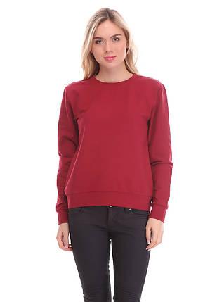 Свитшот женский, бордовый, фото 2