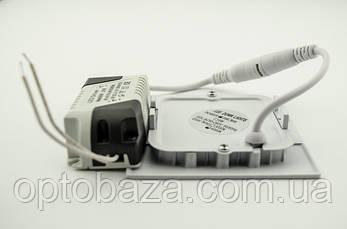 Встраиваемый led светильник 6Вт 4000 К (120х120х22 мм), фото 2