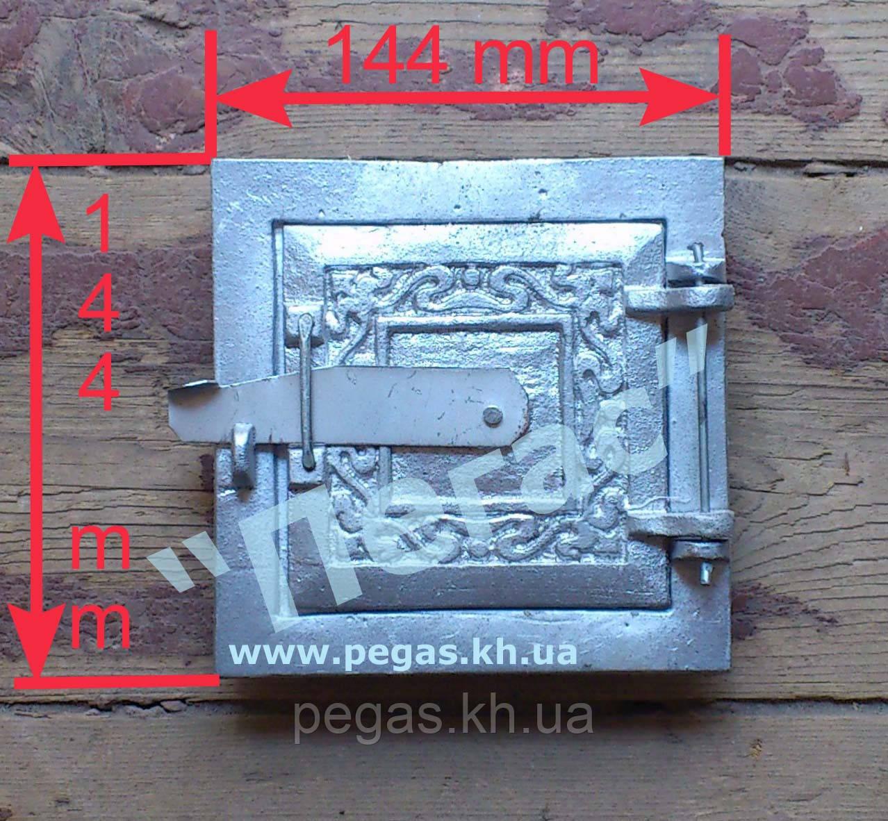 Дверка печная (алюминиевая) (100х100 мм) сажетруска, сажечистка