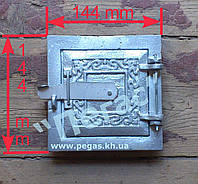 Дверка печная (алюминиевая) (145х145 мм), фото 1