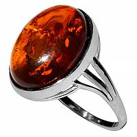 Янтарь Прибалтика, серебро 925, 182КЦЯ  кольцо