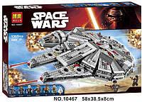Конструктор Bela серия Space Wars 10467 Сокол Тысячелетия (аналог Lego Star Wars 75105)