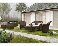 Комплект модульной мебели Леонардо Коричневый, мебель для бассейна, мебель для сауны, мебель для ресторана
