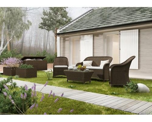 Комплект модульной мебели Леонардо Коричневый, мебель для бассейна, мебель для сауны, мебель для ресторана - КомФорТиуМ в Киеве