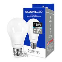 LED лампа GLOBAL A60 10W E27 4100K белый свет 220V (1-GBL-164)