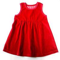 Платье-сарафан из трикотажного велюра
