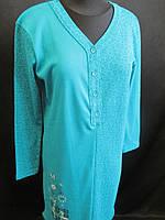 Байковая ночная рубашка с длинным рукавом, фото 1