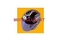 "Шлем открытый   ""VR-1""   (mod:390) (size:M, черный глянец)   (#VL)   (Тайвань)"