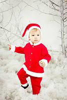 Костюм детский Санта велюр для мальчика