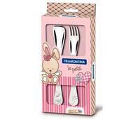 Детский набор столовых приборов 2 прибора Baby Le Petit pink 395967259