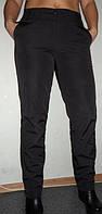 Зауженные брюки женские- плащёвка на флисе