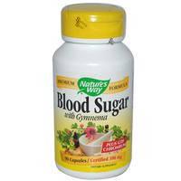Blood Sugar, With Gymnema,90 капсул,при сахарном диабете