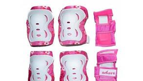 Защита детская наколенники, налокотники, перчатки ZEL SK-3505G-L (р-р L-13-15лет, зеленая)