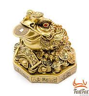 Фигурка денежная жаба с монетой