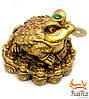 Статуэтка жаба с монеткой во рту