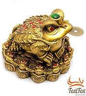 Статуэтка денежная жаба с монеткой во рту
