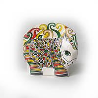 Лошадка (коник) Трекле керамика: фарфор, цвет зелёный. Символ 2014 года лошади.