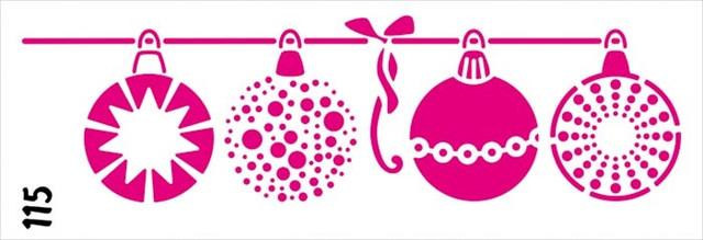 Трафарет многоразовый Трафарет многоразовый 115 Новогодние игрушки(код 02448)