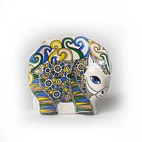 Символ 2014 года синей лошади - Лошадка Трекле керамика: фарфор, цвет голубой., фото 1
