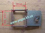 Дверка чугунная печная сажетруска (150х160 мм) сажечистка, люк для золы, фото 4