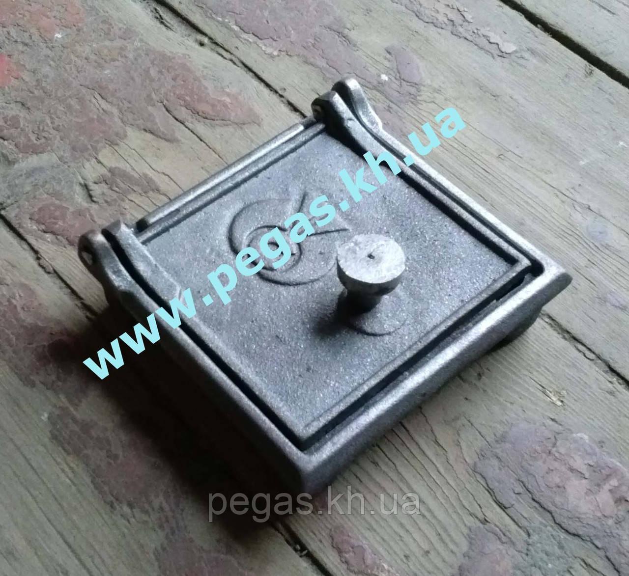 Дверка печная сажетруска (150х160 мм) сажечистка, люк для золы