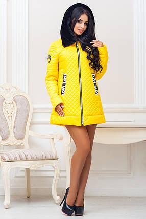 Женская стильная демисезонная куртка р. 44-54 арт. 969 Тон 15, фото 2