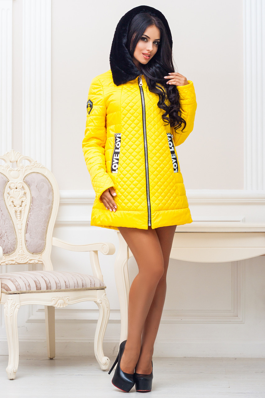 Женская стильная демисезонная куртка р. 44-54 арт. 969 Тон 15