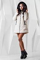 Женская светлая демисезонная куртка р. 44-54 арт. 969 Тон 1