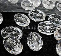 Кристаллы для декора с отверстиями. 30х20мм Цена за 5 шт.