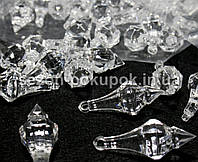 Кристаллы для декора с отверстиями. 45х17мм Цена за 10 шт.