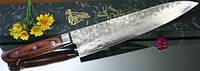 Купить нож кухонный японский Gekko Damascus 33 Chef 210мм