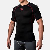 Компрессионная футболка Peresvit Air Motion Compression Short Sleeve T-Shirt Black Red