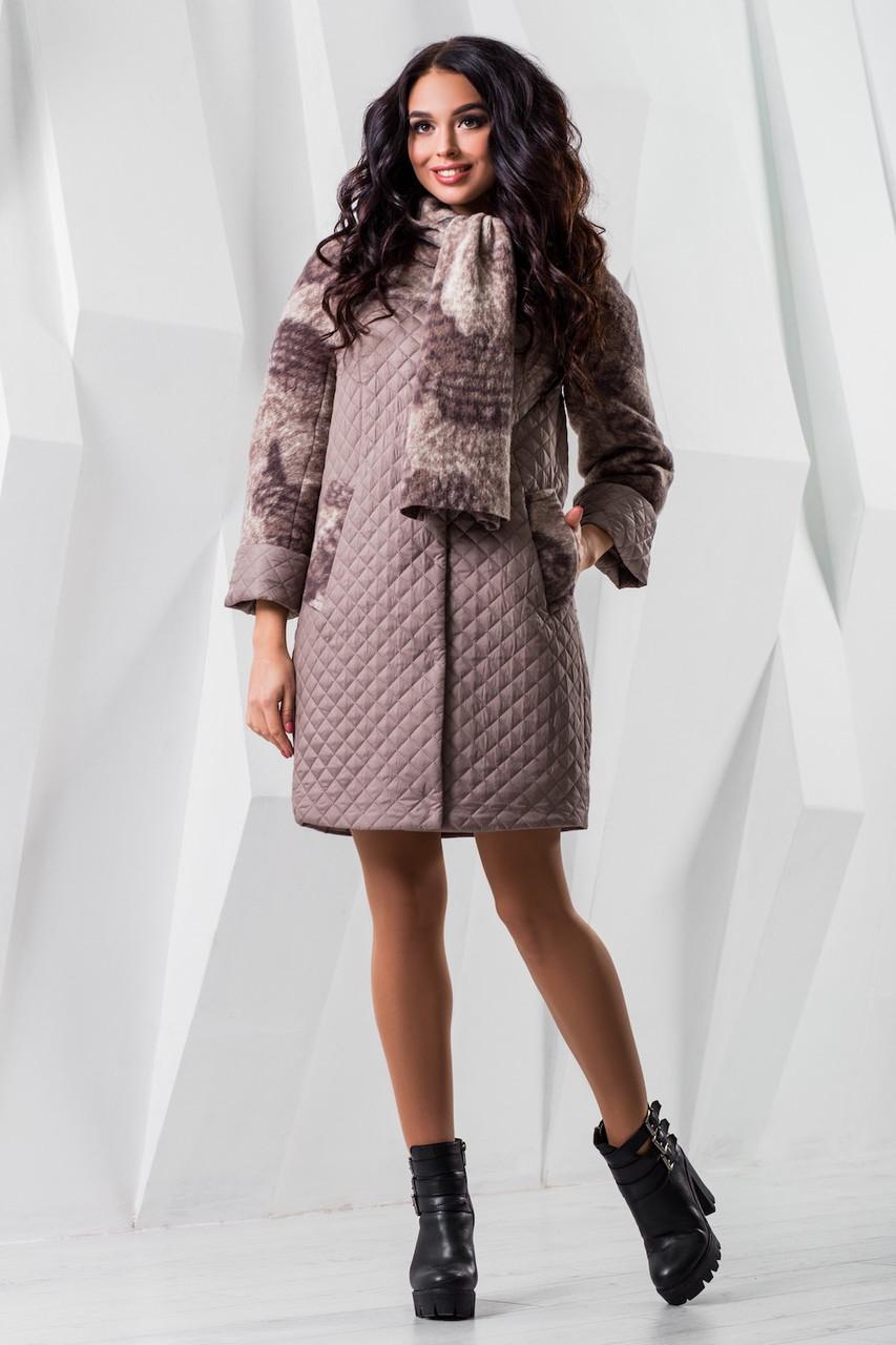Женское модное демисезонное пальто р. 44-60 арт. 971 Тон 7510