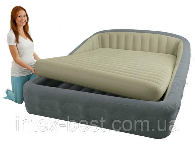 Intex 67972 - двуспальная надувная кровать  241x193x76см
