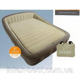 Intex 67972 - двуспальная надувная кровать  241x193x76см, фото 2